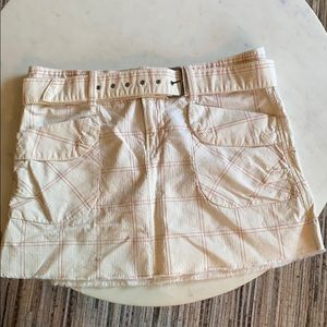 Free People belted mini-skirt